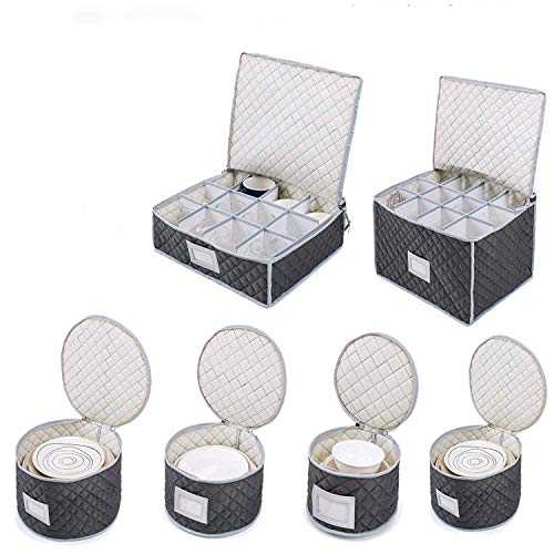 Complete Dinnerware Storage Set #1 Best Protection for Storing or...
