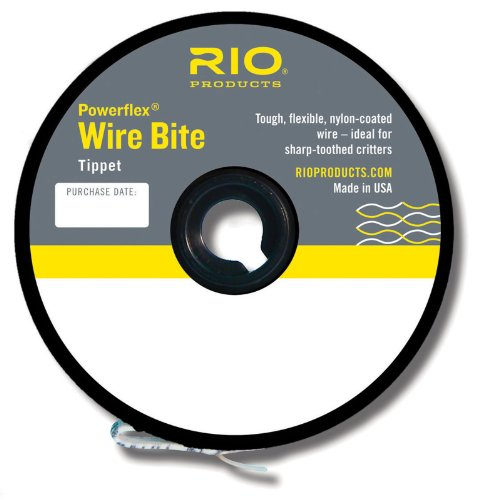 Rio Fly Fishing Tippet Powerflex Wire Bite Tippet 20Lb 15Ft. Fishing Line,...