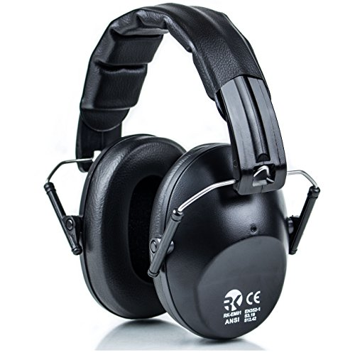 RK Safety Shooting Hearing Protection Ear Muff Defender Folding-Padded Head...