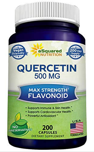 Quercetin 500mg Supplement - 200 Capsules - Quercetin Dihydrate to Support...