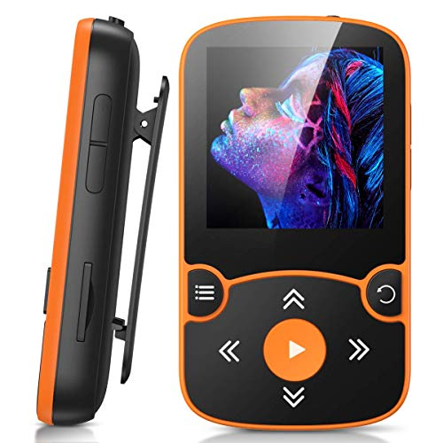 32GB MP3 Player with Clip, AGPTEK Bluetooth 5.0 Lossless Sound with FM...