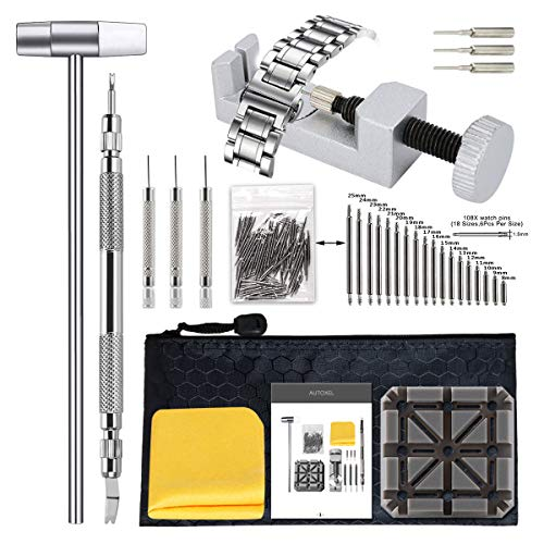 BYNIIUR Watch Band Tool Kit Link Remover, Watch Pin Removal Tool, Band...