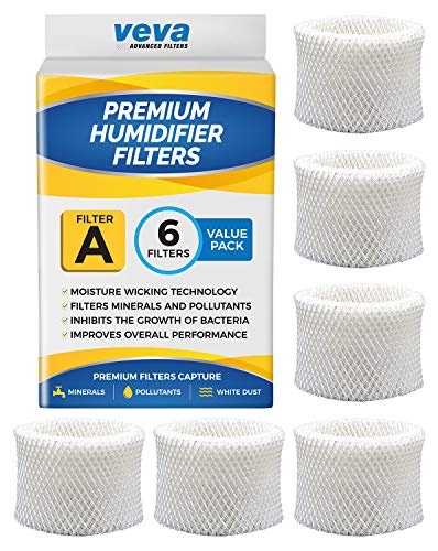 VEVA 6 Pack Premium Humidifier Filters Replacement for HW Filter A,...