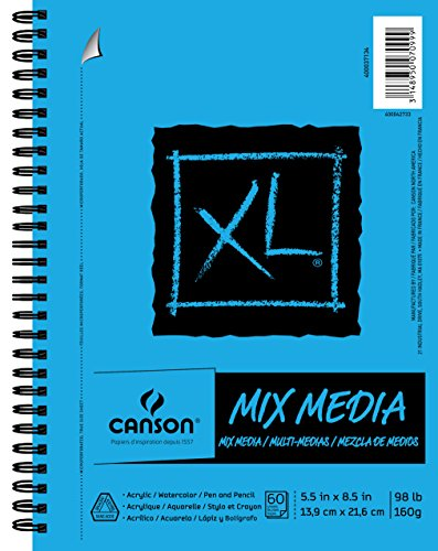 Canson XL Series Mix Paper Pad, Heavyweight, Fine Texture, Heavy Sizing for...