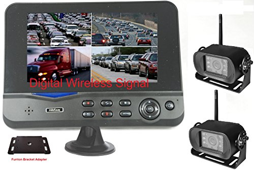 4Ucam Two Digital Wireless Camera + 7' Monitor Quad-View + Adapter for...