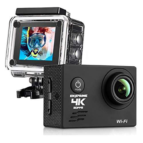WiFi Sports Action 4K Camera - Waterproof Camcorder 2.0 Inch LCD Display...