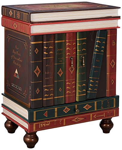 Design Toscano The Lord Byron Vintage Decor Stacked Books End Table Storage...
