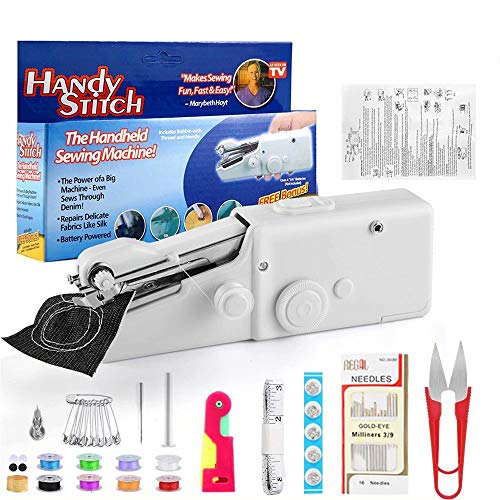 Stywvoe Portable Sewing Machine, Mini Sewing Professional Cordless Sewing...