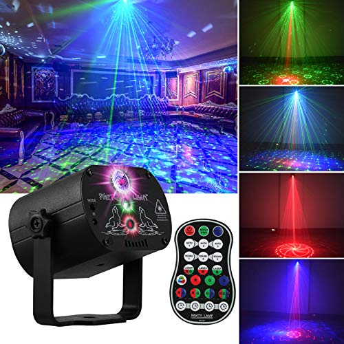 DJ Disco Stage Party Lights, LED Sound Activated Laser Light RGB Flash...