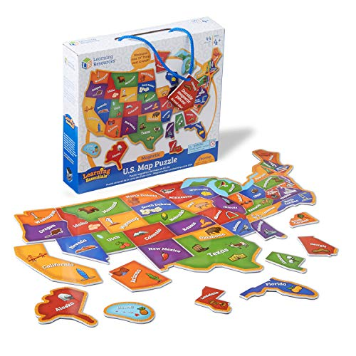 Learning Resources Magnetic U.S. Map Puzzle, Geography and Fine Motor...