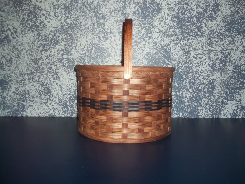 Amish Handmade Primitive Country Double Pie Carrier Basket with Tray and...