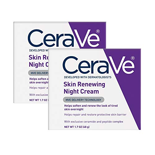 CeraVe Night Cream for Face   2 Pack (1.7 Ounce Each)   Skin Renewing Night...