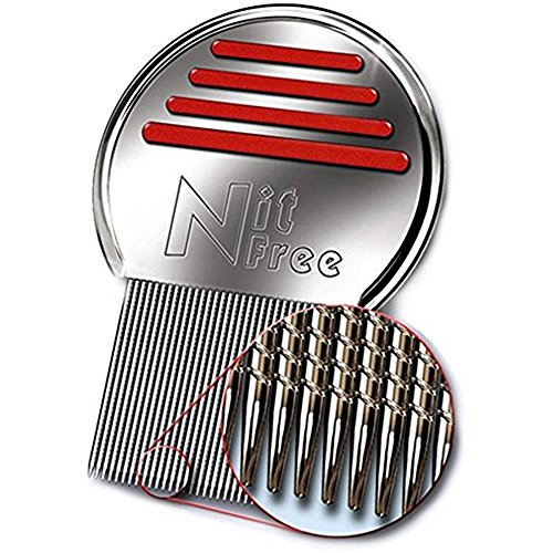 Nit Free Terminator Lice Comb, Professional Stainless Steel Louse and Nit...