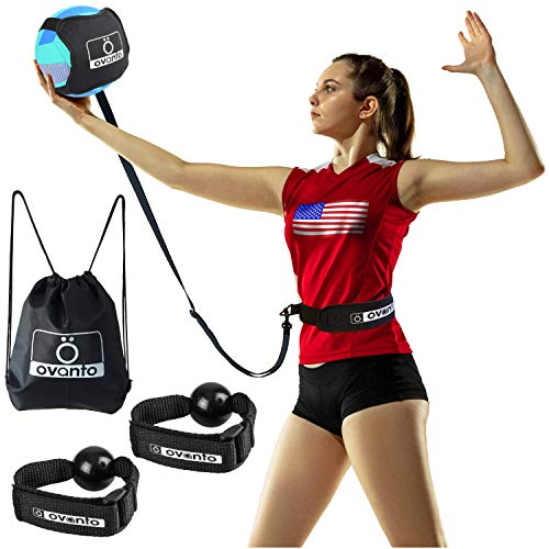 OVANTO Volleyball Training Equipment Aid - Solo Volleyball Trainer Kit to...