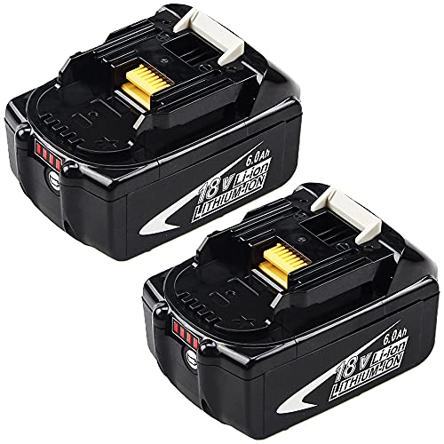 2Packs Upgraded 6.0Ah 18V BL1860B Replacement Lithium-ion Battery...
