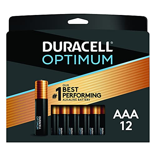 Duracell Optimum AAA Batteries   12 Count Pack   Lasting Power Triple A...