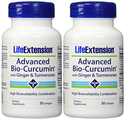 Life Extension Advanced Bio-curcumin with Ginger and Turmerones 30 Softgels...