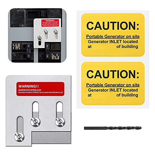 Generator Interlock Kit Compatible with Square D QO or Homeline 150 or 200...