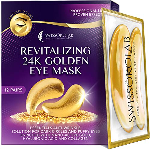 Under Eye Patches For Puffy Eyes 24k Gold Eye Mask For Dark Circles And...