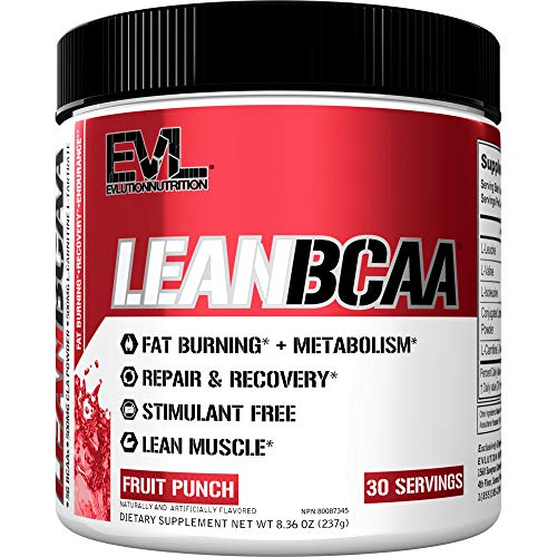 Evlution Nutrition LeanBCAA, BCAA's, CLA and L-Carnitine, Stimulant-Free,...