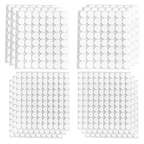 12 Sheets Double-Sided Foam Dots 2 Sizes 3D Adhesive Foam Pop Dots Round...