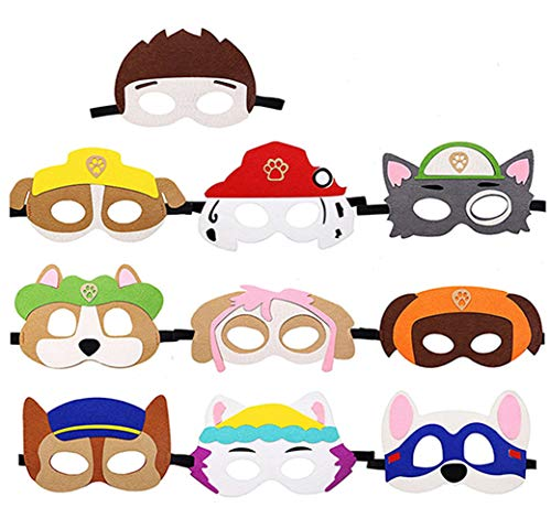 MagiDeal Puppy Party Birthday Masks for Paw Patrol, Multicolor, Size No...