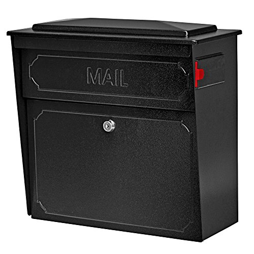 Mail Boss 7172 Townhouse, Black Home vertical wall mount security mailbox...