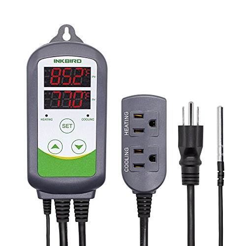 Inkbird ITC-308 Digital Temperature Controller 2-Stage Outlet Thermostat...