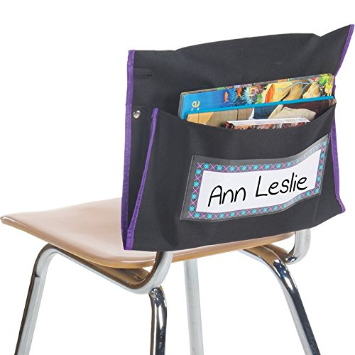 Really Good Stuff Student Book Collection Chair Pockets - Set of 6 –...