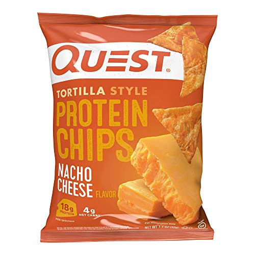 Quest Nutrition Tortilla Style Protein Chips, Low Carb, Nacho Cheese 1.1...