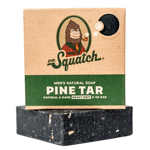 Dr. Squatch Pine Tar Soap – Mens Soap with Natural Woodsy Scent and Skin...