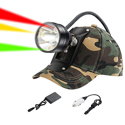 GearOZ Coon Hunting Lights Headlamp for Coyotes Hog Predators, Rechargeable...