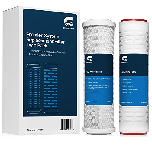 Clearsource Replacement Filter Twin Pack with 0.2 Micron Filtration