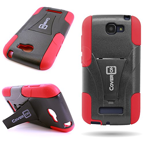 CoverON Kickstand Hard + Soft Dual Layer Hybrid Case for Alcatel One Touch...