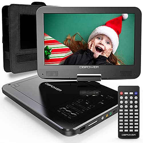 DBPOWER 12' Portable DVD Player with 5-Hour Rechargeable Battery, 10'...