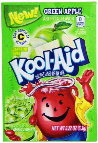 Green Apple Kool Aid Powdered Drink Mix (Pack of 48)