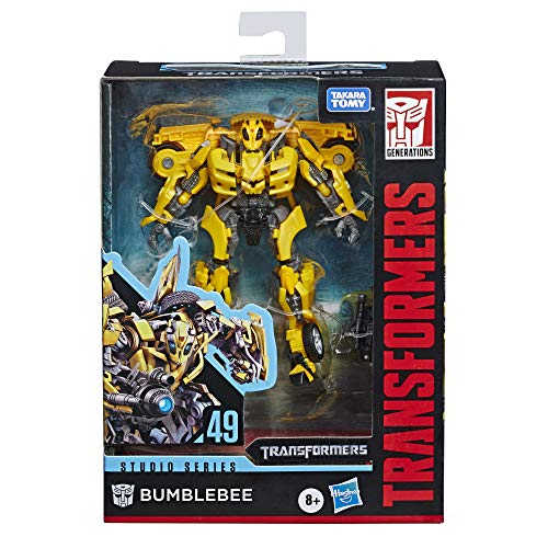 Transformers Toys Studio Series 49 Deluxe Class Movie 1 Bumblebee Action...