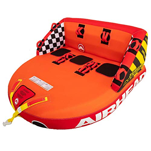 SportsStuff Super Mable   1-3 Rider Towable Tube for Boating, Orange, Red,...