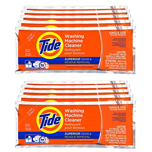 Washing Machine Cleaner by Tide, 10 Count Box, Washer Cleaner Powder for...