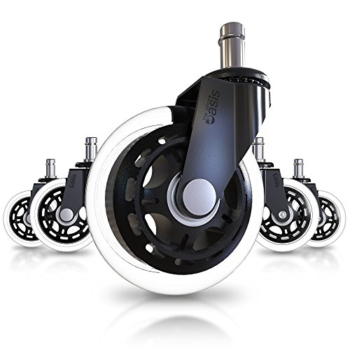 Office Chair Caster Wheels (Set of 5) - Heavy Duty & Safe for All Floors...
