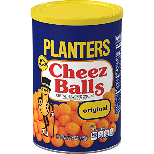 Planters Original Cheez Balls Cheese Flavored Snacks (2.75 oz Canister)