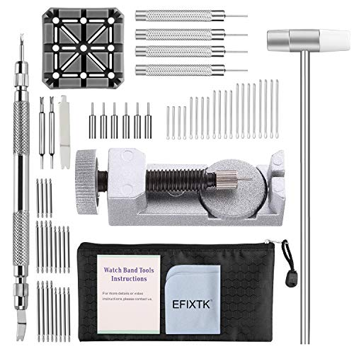 Watch Band Strap Link Pins Remover Repair Tool,24 in 1 Kit with 6 extra...