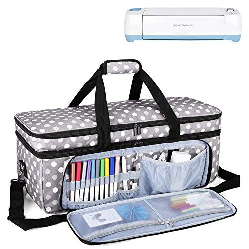 LUXJA Double-Layer Carrying Case Compatible with Cricut Die-Cut Machine, 2...