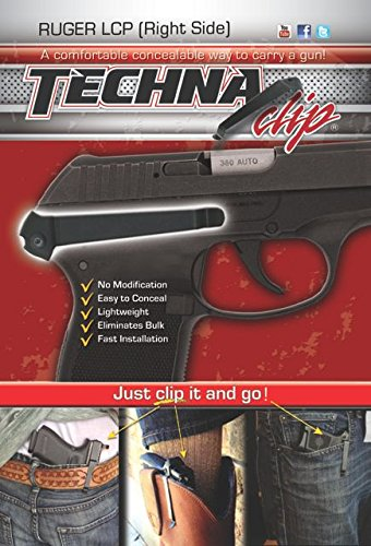 Techna Clip – Ruger LCP.380 - Conceal Carry Belt Clip (Right-Side) ,...