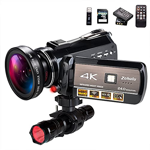 4K Wifi Full Spectrum Camcorders, Ultra HD Infrared Night Vision Paranormal...