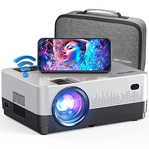 DBPOWER WiFi Projector, 7500L Full HD 1080p Video Projector with Carry...