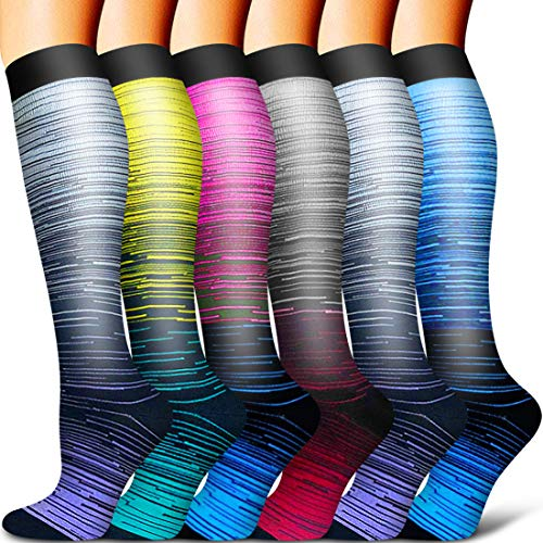 Copper Compression Sock Women and Men-Best Running, Athletic Sports, Flight...