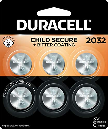 Duracell 2032 Lithium Coin Battery 3V   Bitter Coating Discourages...