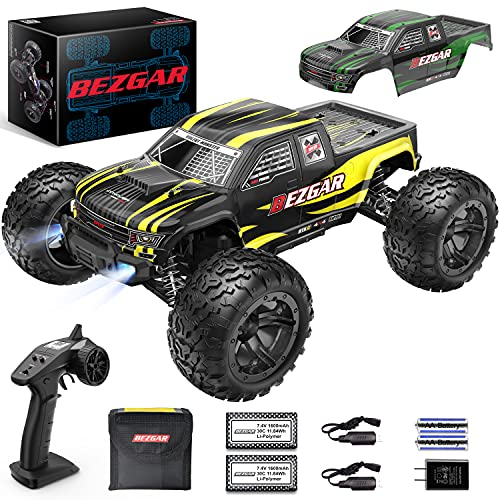 BEZGAR HM101 Hobby Grade 1:10 Scale Remote Control Truck with 550 Motor,...