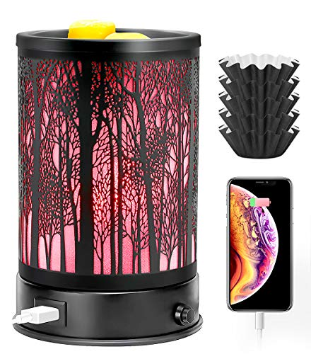 Hituiter Wax Melt Warmer for Scented Wax with USB Charging 7 Colors LED...